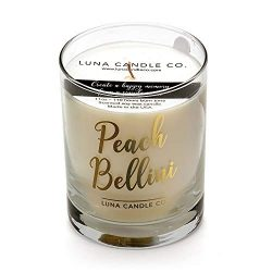 Peach Bellini Scented Jar, 11oz, Soy Wax, Spring Candle