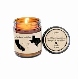Long Distance Mothers Day Gift Gift for Mom Love Knows No Distance Gift Scented Candle Mom Birth ...