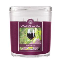 Colonial Candle 8-Ounce Scented Oval Jar Candle, Fine Merlot