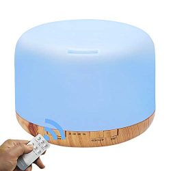 COSSCCI Aromatherapy Essential Oil Diffuser Humidifier, 500ML Ultrasonic Cool Air Mist Humidifie ...