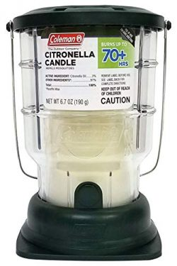 Coleman Citronella Candle Outdoor Lantern – 70+ Hours, 6.7 Ounce