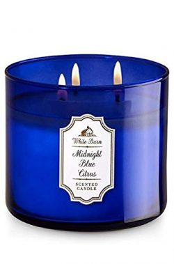 Bath & Body Works White Barn 3-Wick Candle in MIDNIGHT BLUE CITRUS