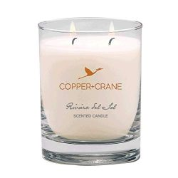 COPPER+CRANE Luxury Scented Candle | Vanilla and Floral Bouquet | long lasting up to 45 hours bu ...