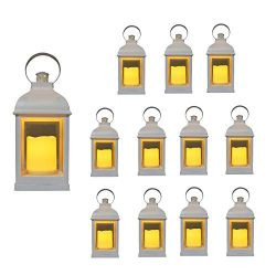 Just In Time For Winter {12 Pc Set} 10″ Decorative Lanterns with Flameless LED Lighted Can ...
