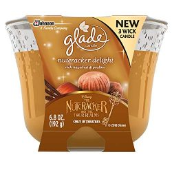 Glade 3 Wick Air Freshener, Nutcracker Delight, 6.8 oz