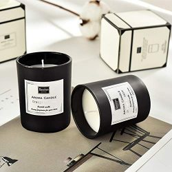 KEYI Scented Candles-(Black Gentleman) for Stress Relief and Aromatherapy,100% Natural Soy Wax a ...