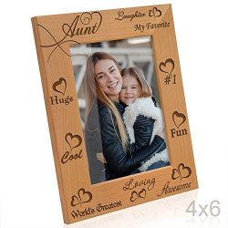 Kate Posh – My Awesome, Cool, Favorite, Loving, 1 Aunt – Engraved Natural Photo Fram ...