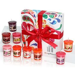 Scented Candles Gift Set. 9 x Scented Candles. Candles Gift Set are Luxury Birthday Gifts for Wo ...