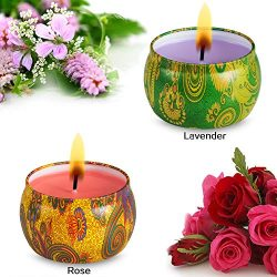 AMASKY Scented Candles – Aromatherapy Candle for Stress Relief and Aromatherapy,Weddings,T ...