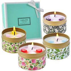 Scented Candles Gift Set Scented Candle Travel Tin Gift Pack Tin Candles Rose Vanilla Lavender J ...
