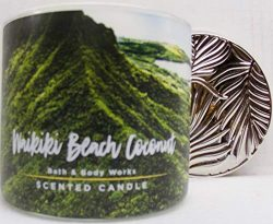 Bath and Body Works Waikiki Beach Coconut Three Wick Scented Candle for 2019 14.5 oz (coconut, s ...