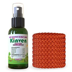 Kinven Anti Mosquito Repellent Bundle – Mosquitos Wristband Repellent & Spray, Waterpr ...