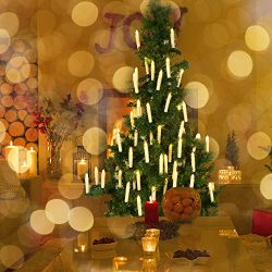 Flameless Candles,Clip on Christmas Candles in Warm White with Remote Control Taper and Removeab ...