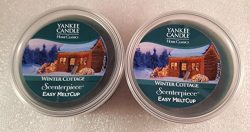 Yankee Candle Home Classics Winter Cottage MeltCup for ScenterPiece Warmer 2 New Melt Cups 2.2oz ...