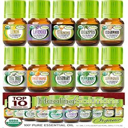 Top 10 USDA Certified Organic Essential Oils Set (10 Pack – 100% Pure & Natural) Thera ...