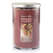 Yankee Candles Autumn Wreath 2-Wick Large Tumbler,Festive Scent