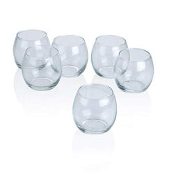 PARNOO Votive Candle Holders Bulk Set of 24 – Glass Votive Tealight Holders – Perfec ...