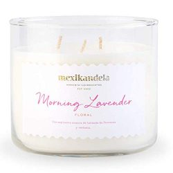 Scented Candle, Morning Lavender Amazing Long Lasting Scent, 3 Wick, Home Decoration Candle, 14. ...