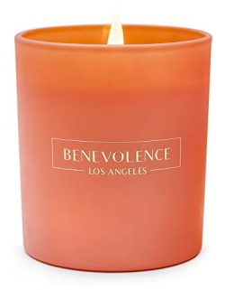 Benevolence LA Scented Candles Aromatherapy – All Natural Soy Wax Strong Fragrance of Rose ...