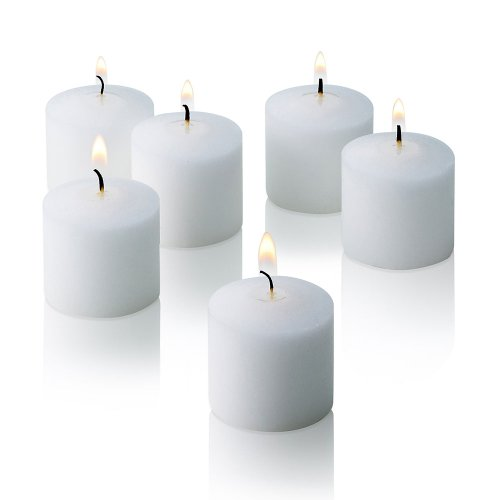 White Jasmine Scented Candles – Set of 12 Scented Votive Candles – 10 Hour Burn Time ...