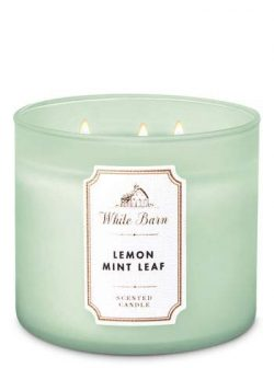 White Barn Lemon Mint Leaf 3-Wick Candle 2019