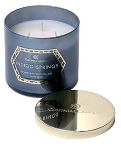 Colonial Candle Indigo Springs, The Luxe Collection, Highly Scented Candle in Decorative Colored ...