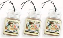 Yankee Candle 3 Pack Car Jar Fragrances. Christmas Cookie. Car Scent.