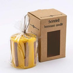FamiCoop 100% Organic Beeswax Candles – Individually Wrapped – Non Toxic Candles  ...