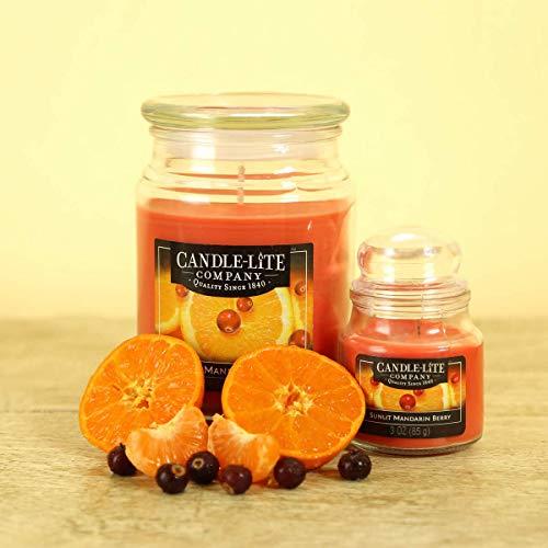 Candle-Lite Everyday Scented Sunlit Mandarin Berry Single-Wick Jar Candle, 18 oz, Orange