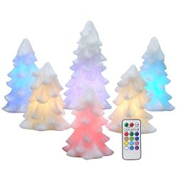 Eldnacele Christmas Tree Candles Battery Operated Flameless LED Color Changing Decorative Candle ...