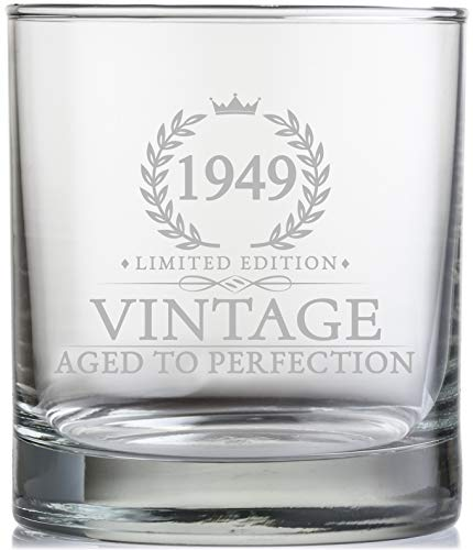 70th Birthday Gifts For Men Turning 70 Years Old 11 Oz Vintage 1949 Whiskey