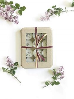 Kaya 12 Lavender Tealights   Hand poured Soy candles   Eco-friendly   All Natural Vegan   Gift f ...