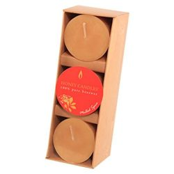 Honey Candles Essential Votives Mulled Spice Beeswax Candle (3 Pack), 3 Piece