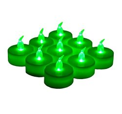 24 Pack LED Tea Lights Candles – Flickering Flameless Tealight Candle – Long Lasting Battery Ope ...