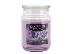 Candle-Lite Everyday Scented Blooming Lilac Garden Single-Wick Jar Candle, 18 oz, Purple