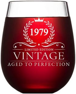 40th Birthday Gifts for Women and Men Turning 40 Years Old – 15 oz. Vintage 1979 Wine Glas ...