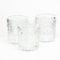 Richland Votive Holder Clear Textured Glass Set of 48