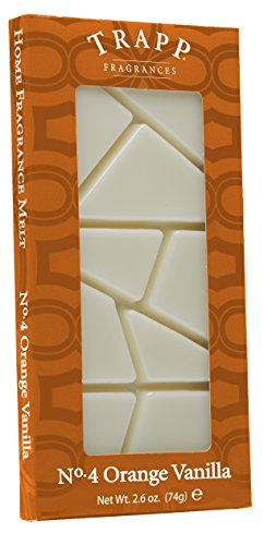 Trapp Candles Home Fragrance Melt, No. 4 Orange Vanilla, 2.6-Ounce