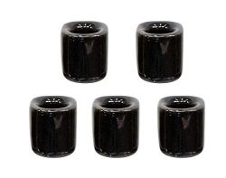 5 pcs Ceramic Chime Ritual Spell Candle Holders – Black
