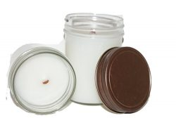 ChicWick Candles 2Pack Citronella Wooden Wick Mason Jar Soy Blend 6oz each 12oz total 13% Citron ...