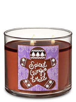 Bath and Body Works Spiced Gingerbread Scented 3 Wick Candle – Winter 2018