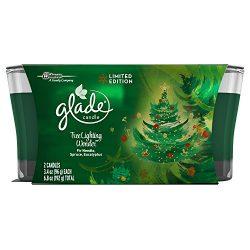 Glade Jar Candle Air Freshener, Christmas Holiday Tree Lighting Wonder, 2 candles, 6.8 Ounce (Li ...