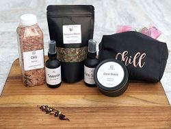 Self care Kit, Spa gift set for her, Mother's day gift set, Luxurious soy candle, herbal b ...