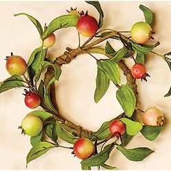 Worth Imports 3.5″ Rose Hip, Set of 2 Candle Ring RedYellowOrangeGreen