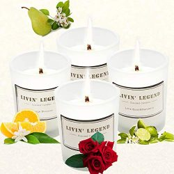 Aromatherapy Candles-4 Differ Scented Candles-Long Lasting & Highly Scented Candles for Stre ...