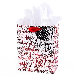 Hallmark Medium Valentine's Day Gift Bag with Tissue Paper (Happy Valentine's Day On ...