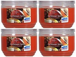 Mainstays 11.5oz Scented Candle, Caribbean Spice 4-pack