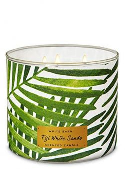 Bath and Body Works White Barn Scented 3 wick Candle in Fiji White Sands (sugarcane, sandalwood, ...