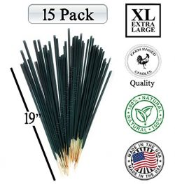 Farm Raised Candles Mintronella XL 19 Inches Long Jumbo 15 Pack (2.5 Hour Each Stick) 100% Natur ...