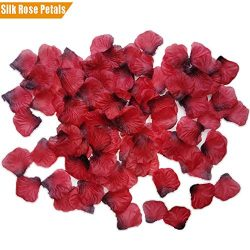 TECHSHARE 2000 Pieces Silk Rose Petals for Wedding Flowers Home Party Romantic Night Anniversary ...